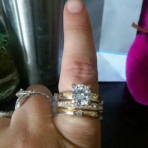 3 stackable gold rings ( one price)
